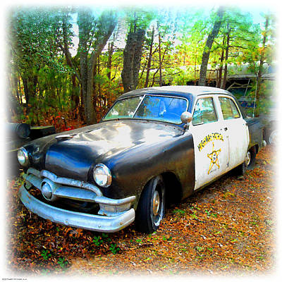 Digital Art - 1950 Ford Cop Car by K Scott Teeters