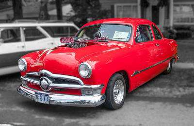Photograph - 1950 Ford Coupe  3d07735 by Guy Whiteley