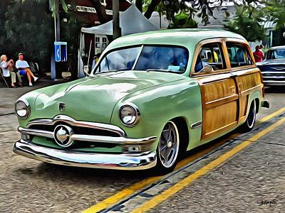 Photograph - 1950 Ford Deluxe Woody Station Wagon by Rebecca Korpita