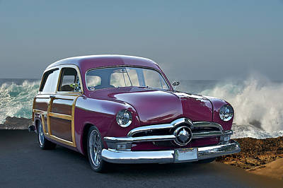 Hubcap Photograph - 1950 Ford Surf'n Wagon II by Dave Koontz