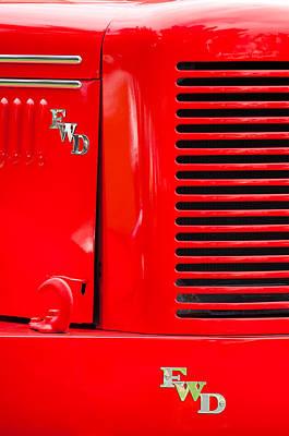 1950 Four Wheel Drive Pumper Fire Truck Emblems Art Print by Jill Reger