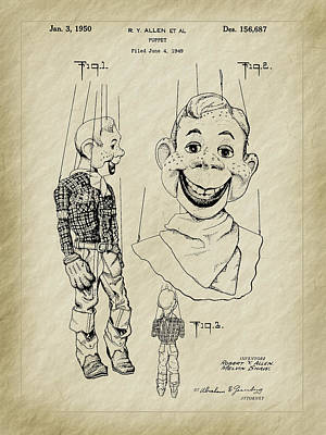 Photograph - 1950 Howdy Doody Puppet Patent Art by Barry Jones
