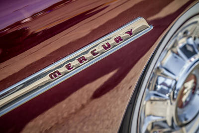 Photograph - 1950 Mercury Emblem by Ron Pate