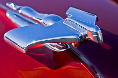 1950 Nash Hood Ornament Art Print by Jill Reger