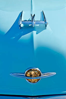 1950 Oldsmobile Hood Ornament Art Print by Jill Reger
