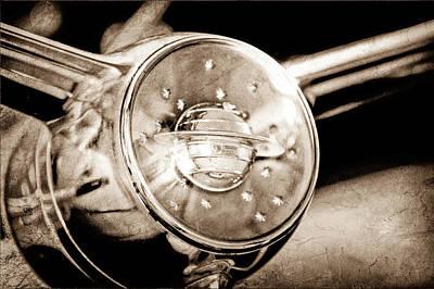 Photograph - 1950 Oldsmobile Steering Wheel Emblem by Jill Reger