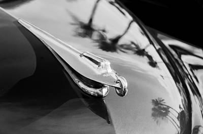 Photograph - 1950 Packard Hood Ornament -0242bw by Jill Reger