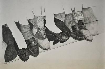 Drawing - 1950 Shoe Fad by Glenn Calloway