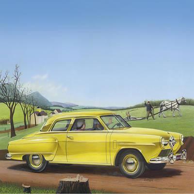 1950 Studebaker Champion - Square Format Image Picture Original