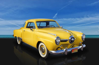Photograph - 1950 Studebaker Champion Regal Deluxe Starlight Coupe by Frank J Benz