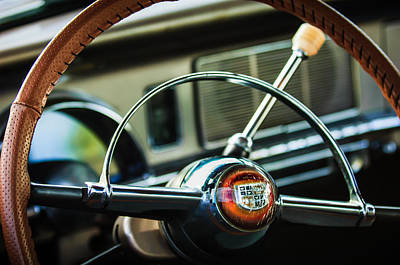 Photograph - 1950 Studebaker Champion Steering Wheel -1326c by Jill Reger