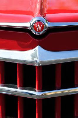 1950 Willys Overland Jeepster Hood Emblem Art Print