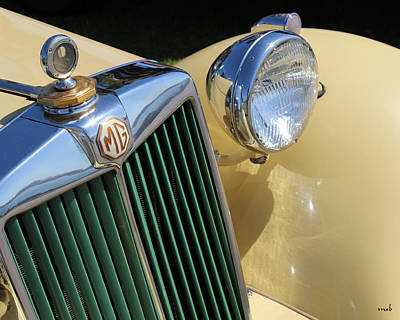 1950 Yellow Mg Grille Art Print by Mark Steven Burhart