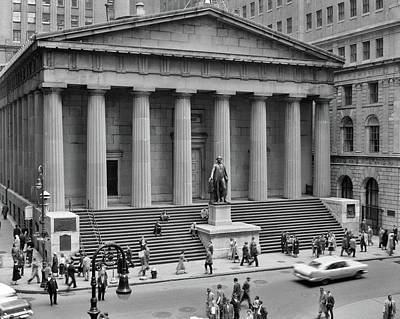 Inauguration Photograph - 1950s 1958 Wall Street Federal Hall by Vintage Images