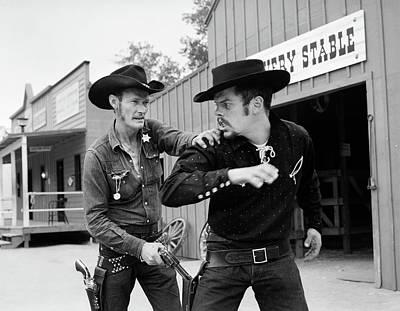 1950s 1960s Cowboy Sheriff Marshall Art Print