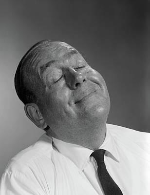 1950s 1960s Happy Balding Man Art Print