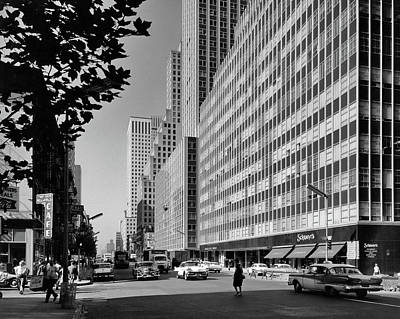 Third-oldest Photograph - 1950s 1960s Looking South On Third by Vintage Images