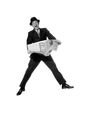 1950s 1960s Man In Business Suit Art Print
