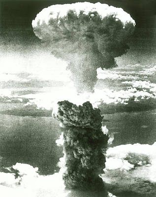 Armageddon Photograph - 1950s Atomic Bomb Explosion Mushroom by Vintage Images