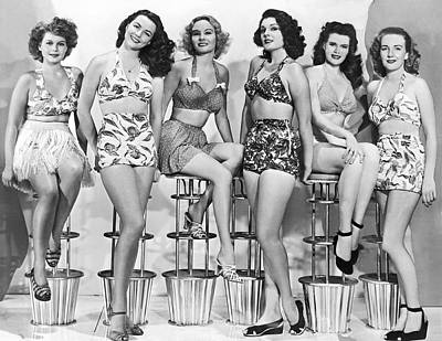 Bathing Suit Photograph - 1950s Bathing Suits by Underwood Archives
