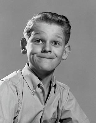 1950s Boy Silly Thin Lipped Smile Art Print