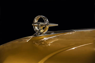 Car Mascot Digital Art - 1950s Buick Bombsite Hood Ornament by Chris Flees