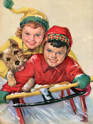 1950s Canada Star Weekly  Magazine Art Print