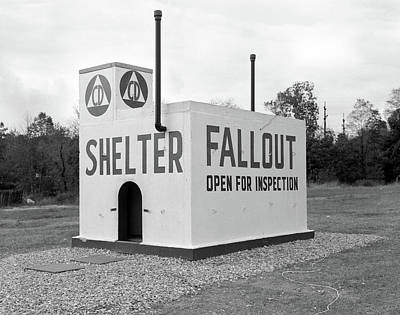 Atom Bomb Photograph - 1950s Civil Defense Fallout Shelter by Vintage Images