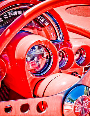 1950s Corvette Art Print by Phil 'motography' Clark