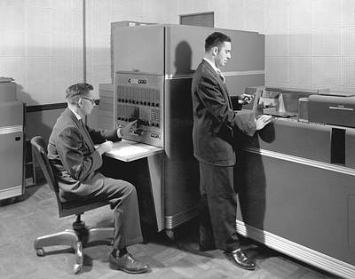 Punch Photograph - 1950s Data Machines by Underwood Archives