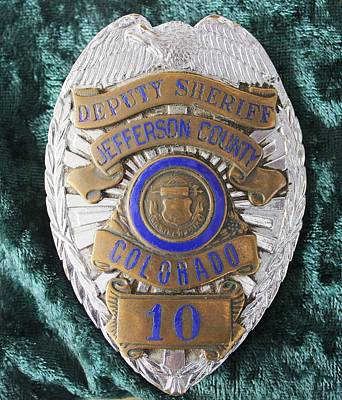 Photograph - 1950s Deputy Sheriff Badge by Steven Parker