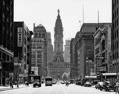 1950s Downtown Philadelphia Pa Usa Art Print