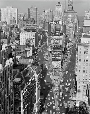 1950s Elevated View New York City Times Art Print