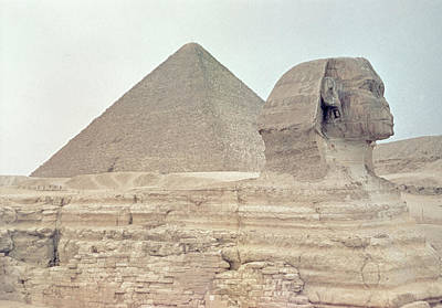 African Resort Photograph - 1950s Great Pyramid Of Giza by Vintage Images