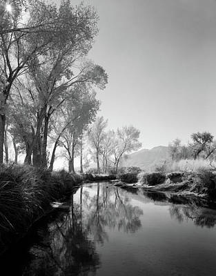 Infra-red Photograph - 1950s Infra-red Image Peaceful Stream by Vintage Images
