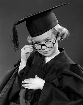 College Girls Wall Art - Photograph - 1950s Little Blond Girl Wearing by Vintage Images