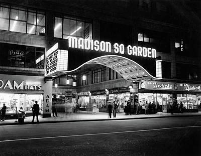 Madison Square Garden Photograph - 1950s Madison Square Garden Marquee by Vintage Images
