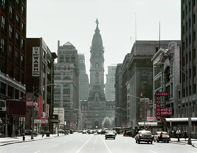 1950s North Broad Street Looking South Art Print