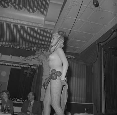 1950s Nude Club Dancer Art Print by Vintage