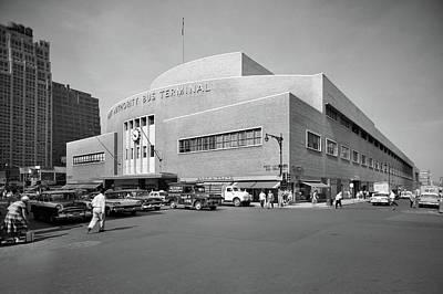 1950s Port Authority Bus Terminal 8th Art Print