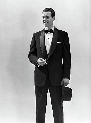Black Tie Photograph - 1950s Portrait Smiling Man Wearing by Vintage Images