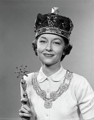 1950s Queen For A Day Woman Wearing Art Print