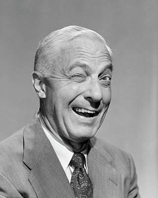 1950s Senior Man Businessman Smiling Art Print