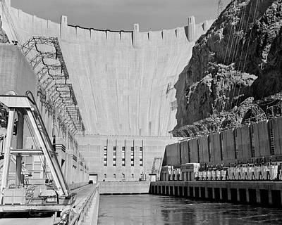 1950s Shot Of Hoover Dam Taken From End Art Print