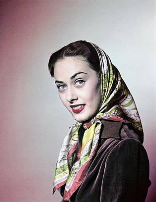 Babushka Photograph - 1950s Smiling Brunette Woman Wearing by Vintage Images