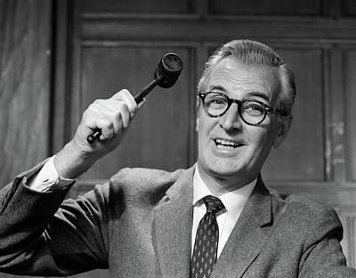 1950s Smiling Man Judge In Glasses Art Print