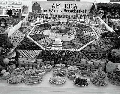Canned Goods Photograph - 1950s Spread Of Farm Produce And Other by Vintage Images