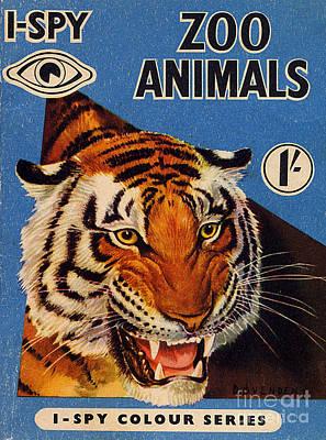 1950s Uk I-spy Book Cover Art Print
