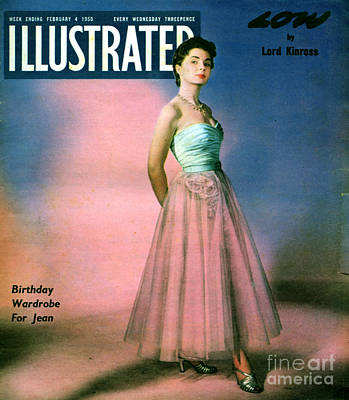 1950s Fashion Drawing - 1950s Uk Illustrated Magazine Cover by The Advertising Archives