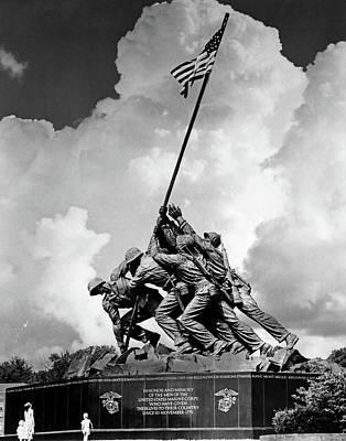Battle Of Franklin Photograph - 1950s Usmc War Memorial Iwo Jima 1945 by Vintage Images